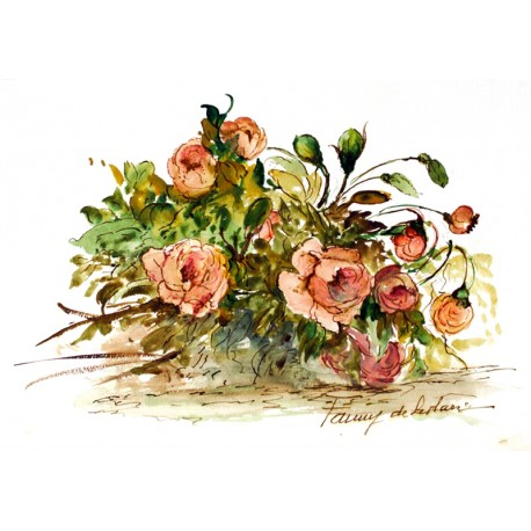 Fanny De Scolari - Composizione con Rose